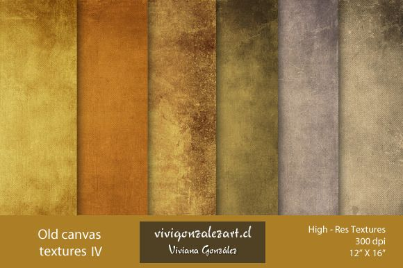 Old Canvas Textures IV by ViviGonzalezArt on Creative Market