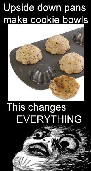 geeenius: Add Ice, Fun Recipe, Good Ideas, Baking Pan, Ice Cream, Cool Ideas, Great Ideas, Icecream, Cookies Bowls