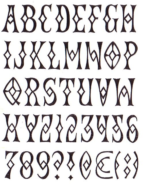 This letterform interests me as its got a gothic genre to it and it includes shapes within the letters, which immediately you're drawn to.