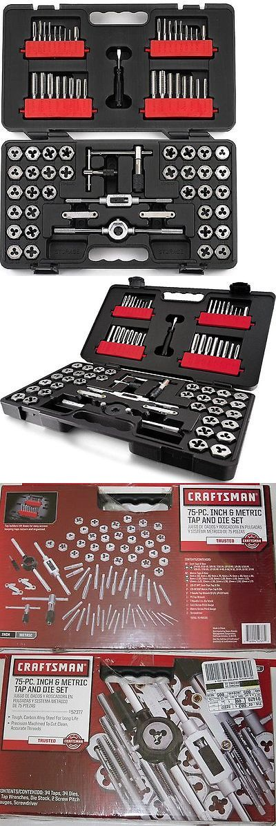 taps and dies new craftsman 75 pc tap and die set free priority shipping sae metric u003e buy it now only 124 on ebay pinterest