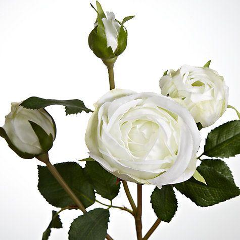 Buy Floral Silk Rose Spray, Cream, Set of 4 Online at johnlewis.com