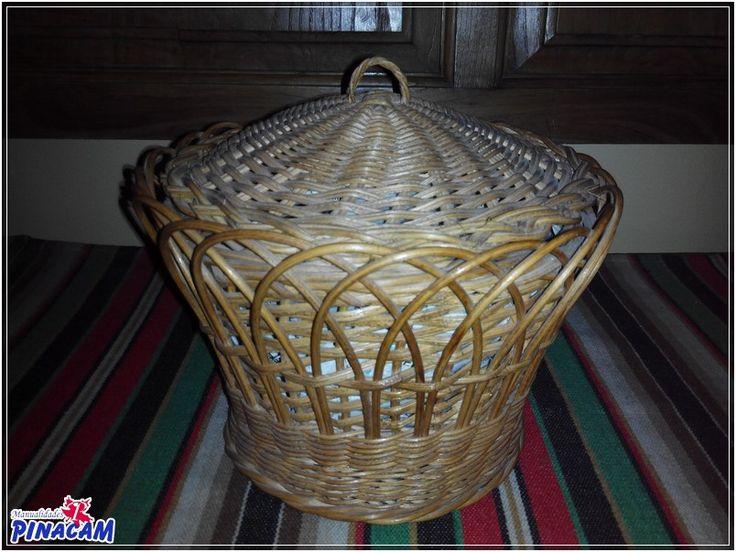 Costurero de mimbre realizado por Manuel             #manualidades #pinacam #medula #mimbre  www.manualidadespinacam.com