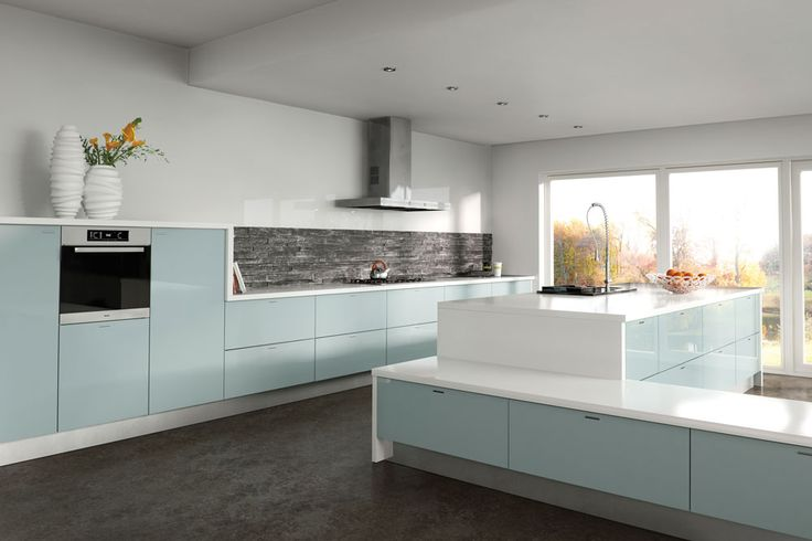 Metallic Blue - Kitchen Door - Custom Made Kitchens