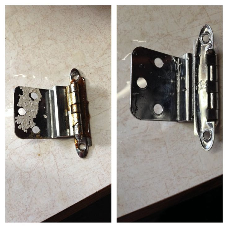 Cleaning Old Cabinet Hardware The Easy Way Place Hinges