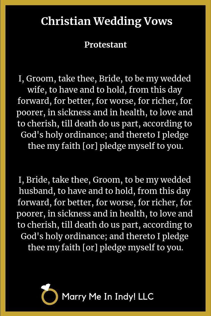Protestant Wedding Vows Marriage Vows Christian Wedding Vows Vows