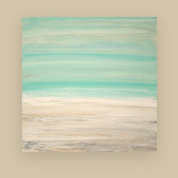 Painting Acrylic Abstract Art on Canvas Beach by OraBirenbaumArt