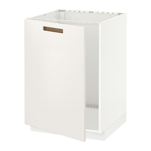 IKEA METOD Base cabinet for sink White/märsta white 60x60 cm Sturdy frame construction, 18 mm thick.