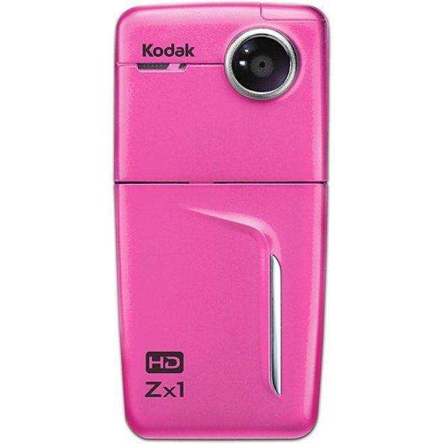 "Kodak Zx1 Pink Pocket Video Camera with 2.4"" LCD, 16:9 Aspect Ratio"