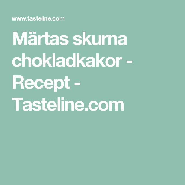 Märtas skurna chokladkakor - Recept - Tasteline.com