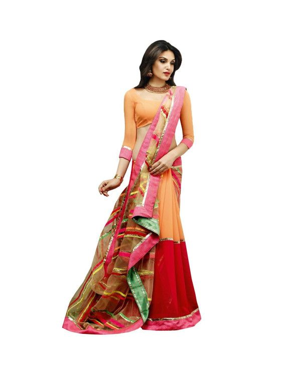 Multicolor Lace Work Saree To know more or buy, please click Below:- http://www.ethnicstation.com/multicolor-lace-work-saree-vl1766  ‪ #Ethnicwear