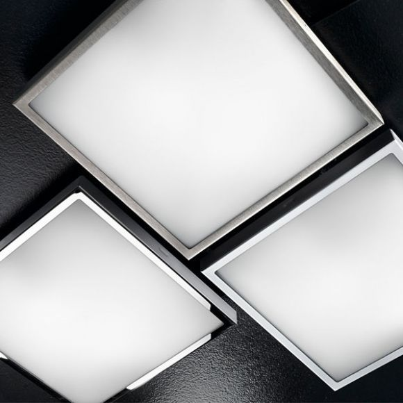 LED-Deckenleuchte eckig 1x28W LED, 2750lm, neutralweiß - 4000°K, in Weiß weiß