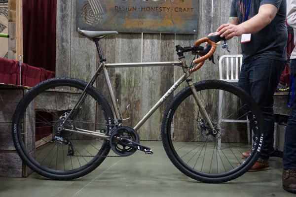 Silent Cycles steel cyclocross bike with raw finish