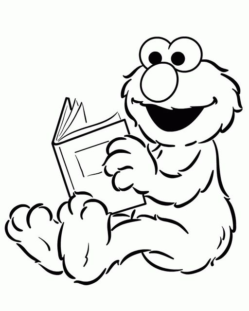 Elmo Bear Coloring Pages