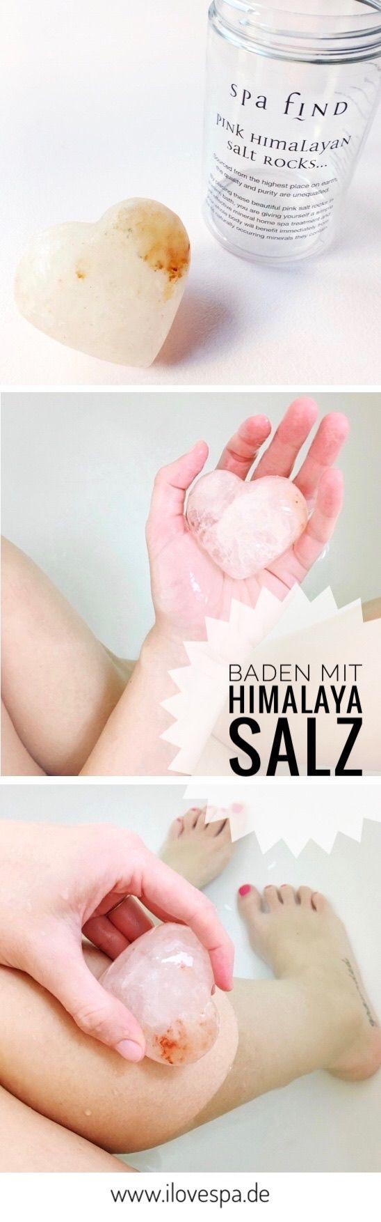 Baden mit Himalaya Salz Herzchen - warum das eine gute Idee ist - Wellness & Spa zuhause
