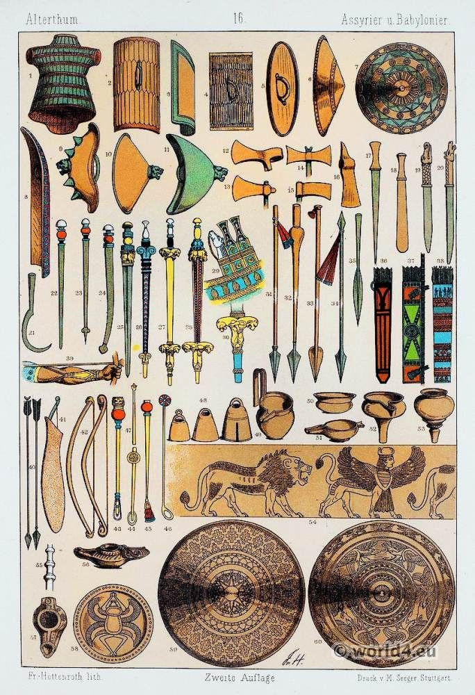 Ancient Babylonians and Assyrians weapons. Babylonian ...