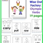 Free! Olympic action verbs coloring and writing frames pages  plus more....48 pages!
