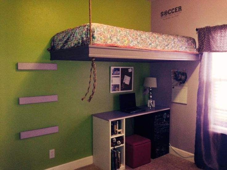 Suspended bed  Projects Ive Done  Pinterest  Suspended