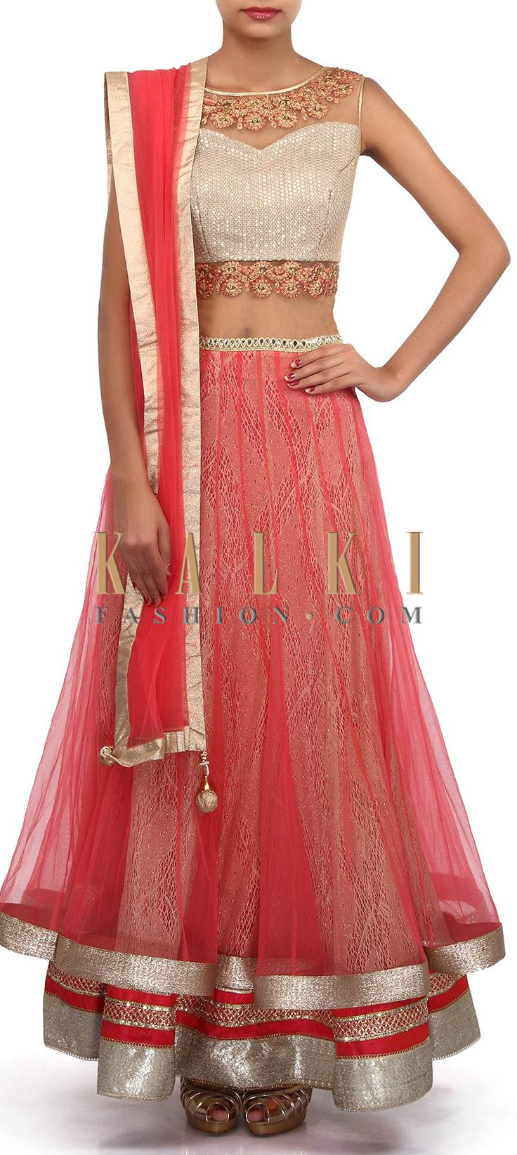 Buy Online from the link below. We ship worldwide (Free Shipping over US$100). Product SKU - 305672.Product Link - http://www.kalkifashion.com/anarkali-suit-in-pink-and-gold-adorn-in-mirror-and-zari-embroider-only-on-kalki.html
