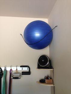 diy exercise ball storage - Google Search