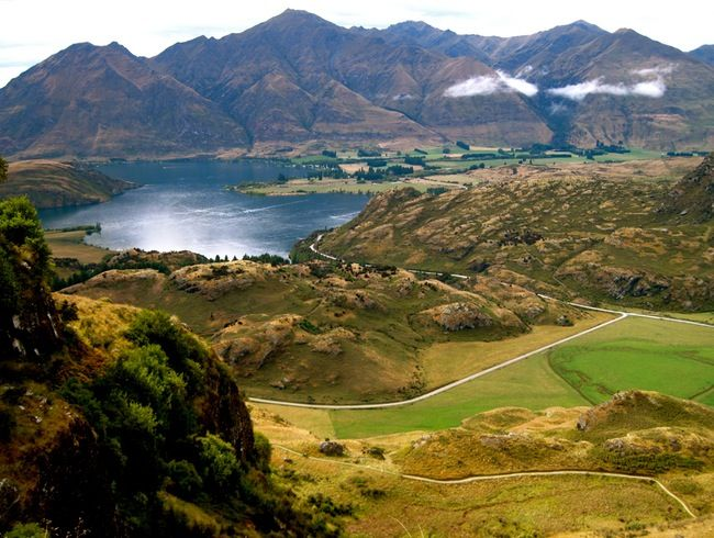Also in running for Best Day Hike in the World, Diamond Lake in Wanaka, New Zealand