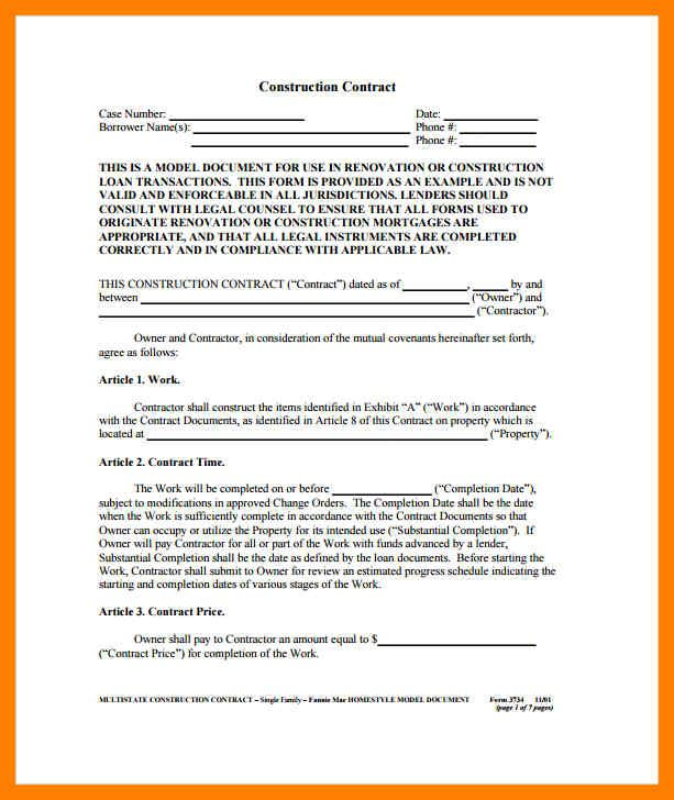 image about Free Printable Construction Contracts titled Graphic final result for absolutely free printable structure contracts biz