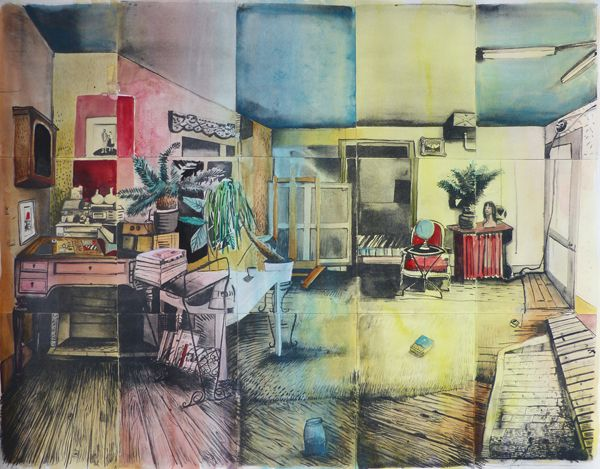Christmas 2013 selection : Mathieu Cherkit, RVB, Edition of 10 lithographs and watercolor, Galerie Jean Brolly