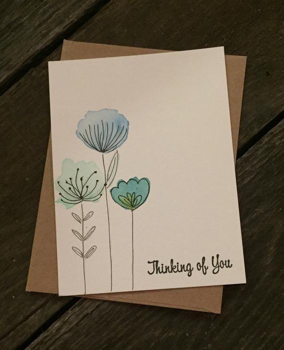 Cartões do costume do aniversário da aguarela   – Inspiration