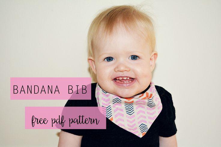 Bandana Bib with Free PDF Pattern   www.whatdandidnext.com