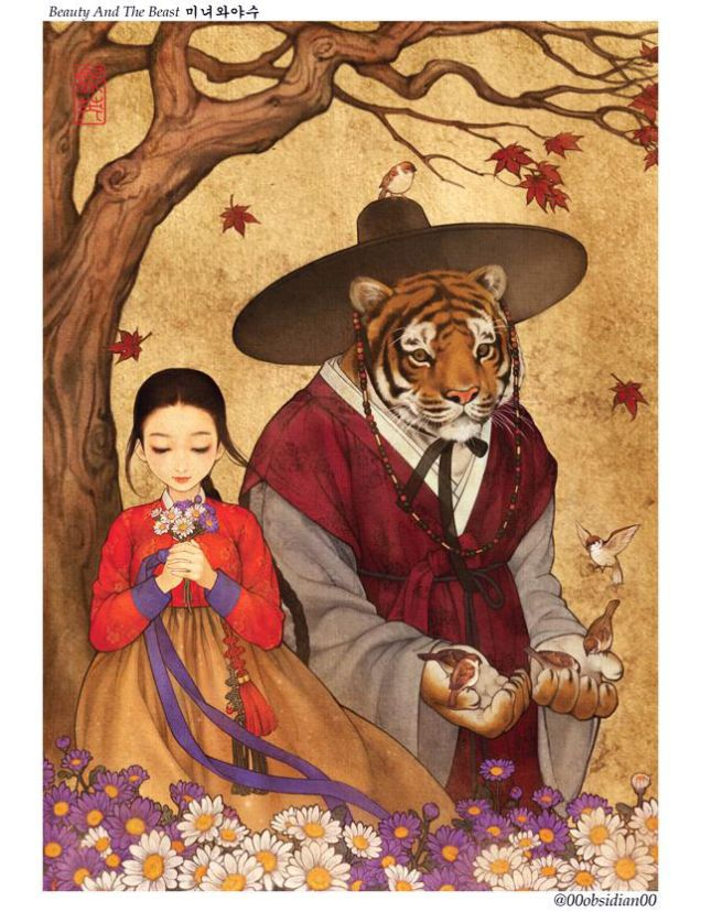 Western Fairytales Get A Korean Makeover In Gorgeous Illustrations