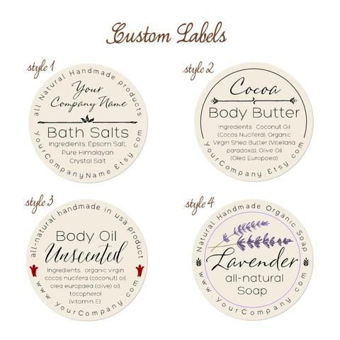 Pre designed personalized labels 60 pk