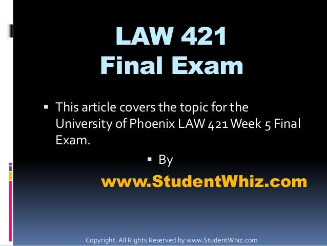 Awesome resource for LAW 421 Final Exam.  #LAW421 #LAW421Final #LAW421FinalExam
