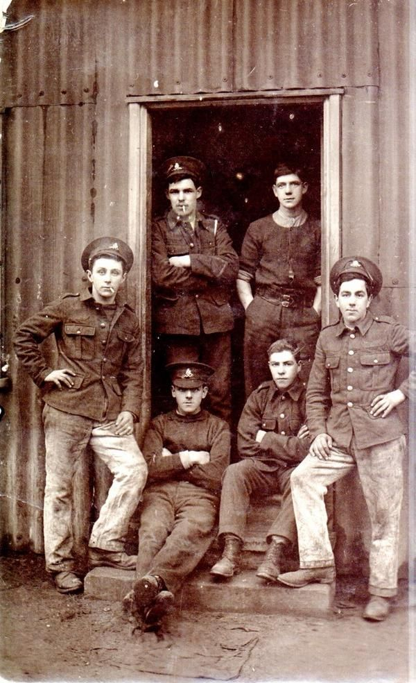 Shiloh's grandad, front left, signaller with the RFA and RE for the duration of #WW1. He survived. #WeRemember