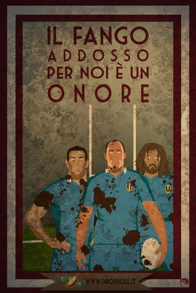 """""""IL FANGO ADDOSSO PER NOI È UN ONORE"""" - The mud on your face is an honour."""