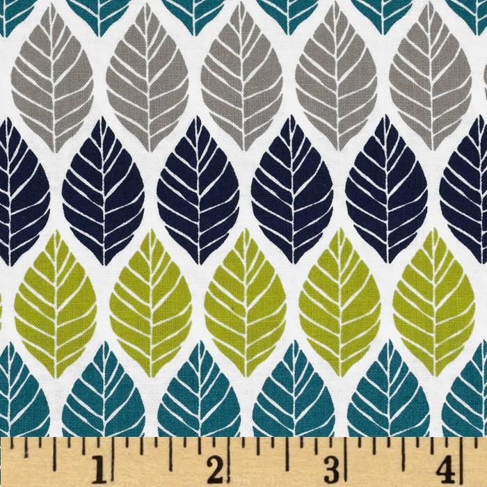 Michael Miller Rustique Leaf Press Teal from @fabricdotcom Designed by Emily Herrick for Michael Miller, this cotton print is perfect for quilting, apparel and home decor accents. Colors include white, grey, lime, navy and teal. More