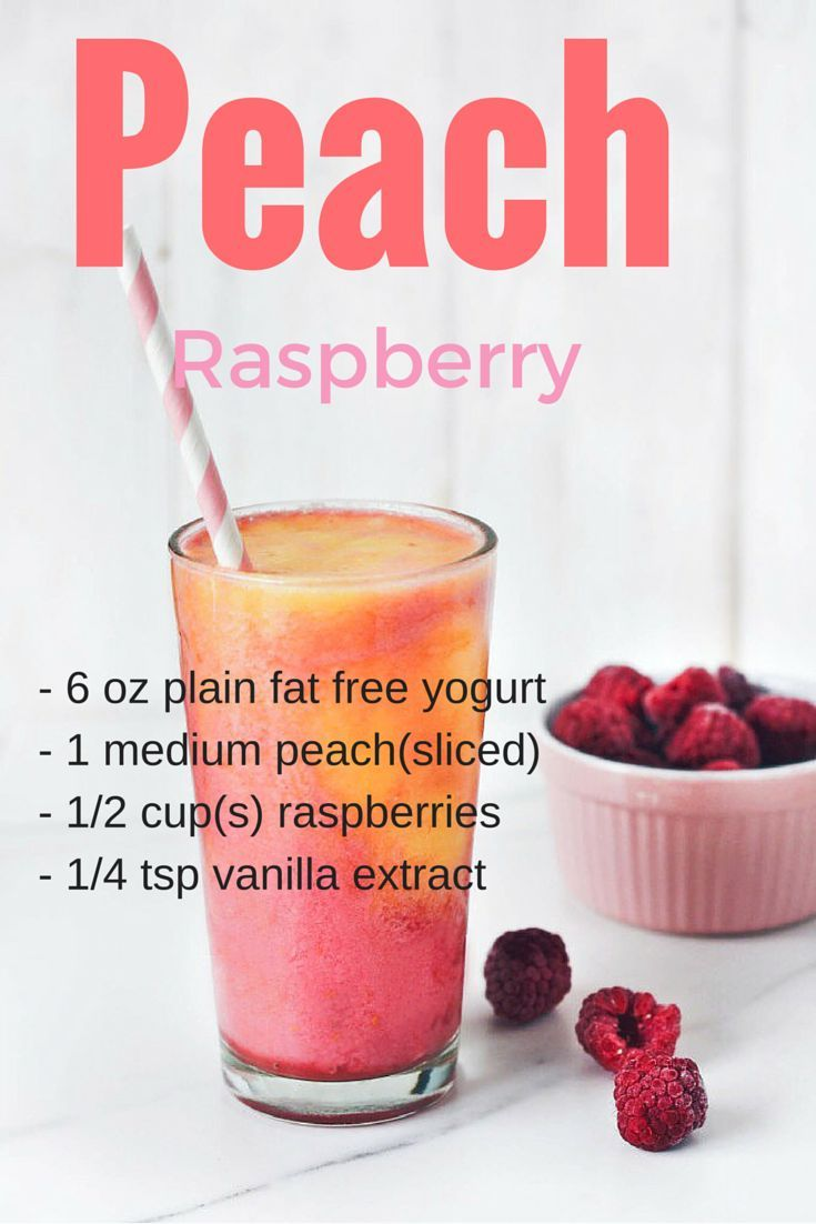 Peach Raspberry Low Fat Smoothie - A great smoothie for breakfast if you are looking to lose weight.