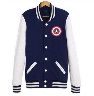 Captain America XXXL sweatshirt for men The Avengers baseball jackets spring wear