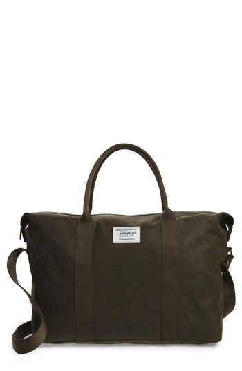 BARBOUR ARCHIVE HOLDALL BAG - GREEN. #barbour #bags #canvas #