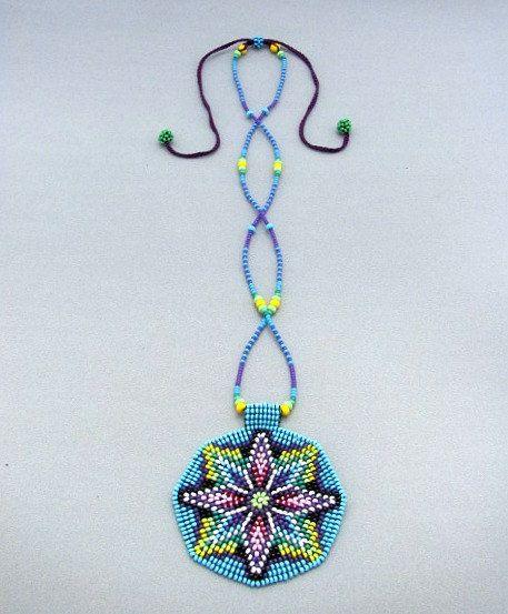 Semillas cuentas Mandala collar de la por HANWImedicineArt en Etsy