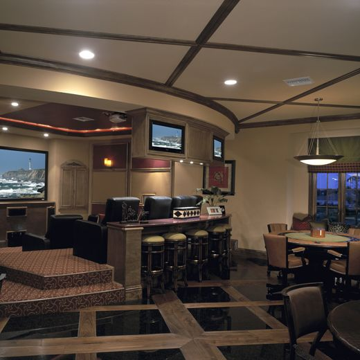 Second Floor Club Level Traditional Media Room Orlando The Evans Group Media Room Game Room Design