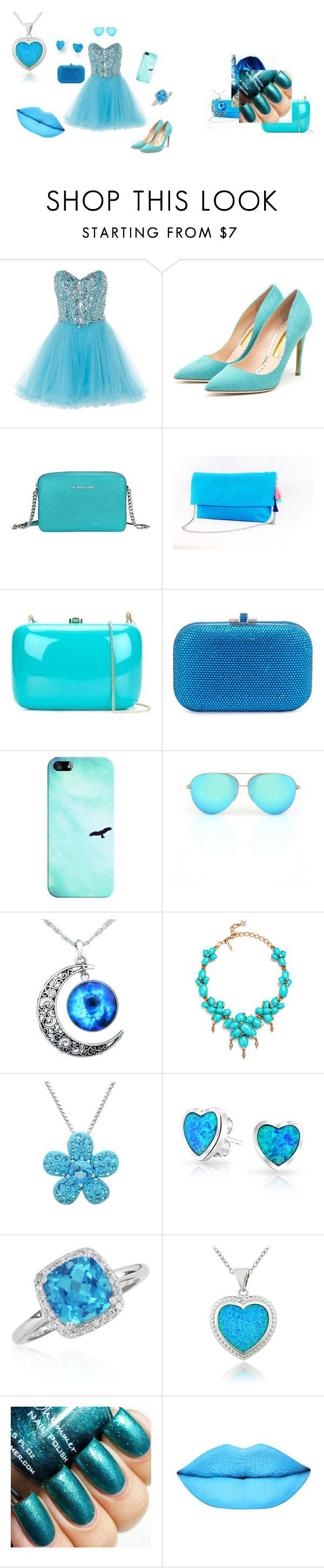 """Turcoaz <3"" by neculaescu-alexia on Polyvore featuring Anoushka G, Rupert Sanderson, Michael Kors, Rocio, Judith Leiber, Casetify, Victoria Beckham, Oscar de la Renta, Amanda Rose Collection and Bling Jewelry"
