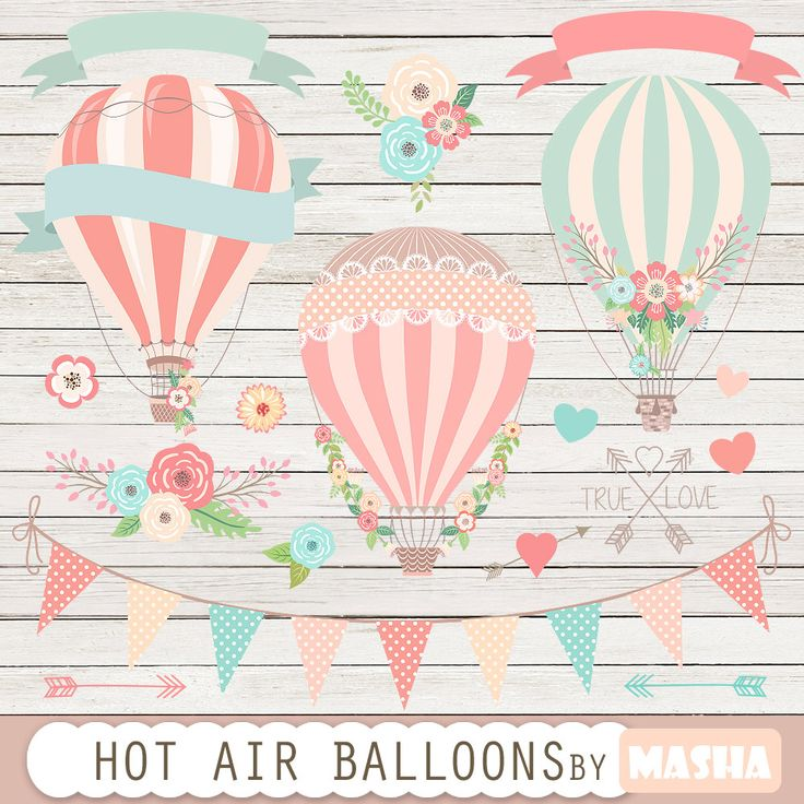 "Excited to share the latest addition to my shop: Hot air balloons clip art: ""Hot Air Balloon Clipart"" for wedding invitations, save the date cards, baby showers, birthday parties, scrapbook #balloonclipart #balloonsclipart #hotairballoons #clipart #hotairballoon #scrapbooking #wedding #pink #etsy #supplies http://etsy.me/2CiMWg9"
