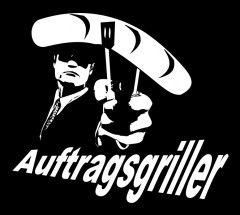 Auftragsgriller - Grillschürze - grillen Grill Schürze schwarz