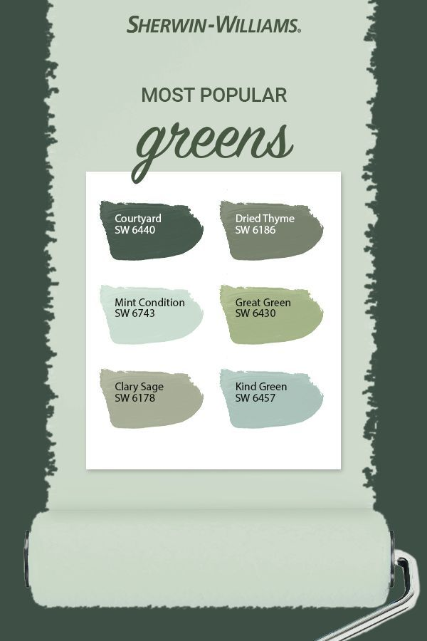 Popular Green Paint Colors In 2020 Green Paint Colors Sherwin Williams Paint Colors Green Sherwin Williams Paint Colors