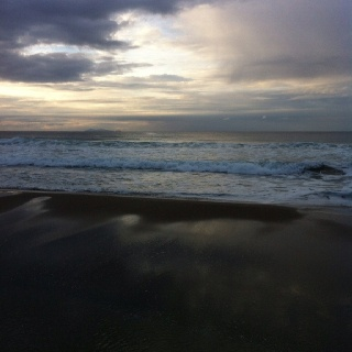 Papamoa Beach in Winter