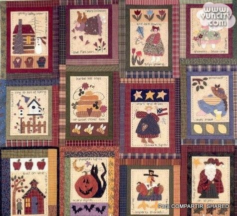 Art to Heart. Calendar Quilts & Stitcheries - Majalbarraque M. - Веб-альбомы Picasa