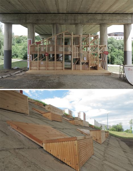 Abandoned Bridge Amphitheater Reclaims Urban Space