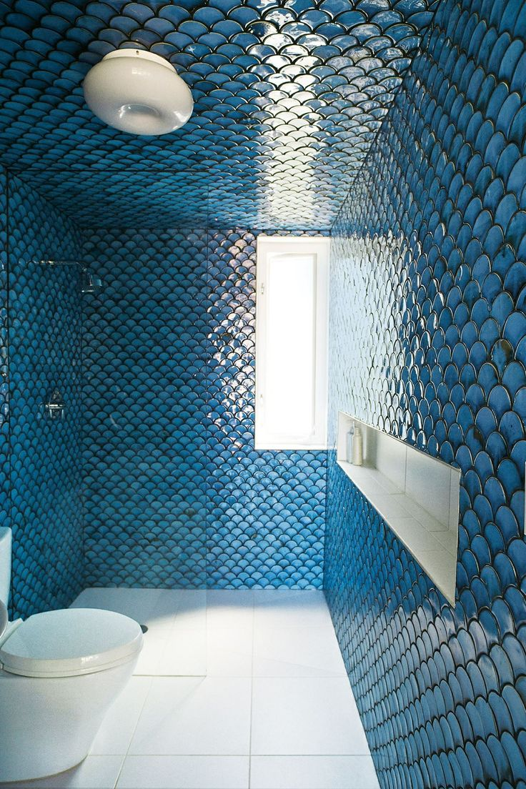 15 best Fish scale tiles images on Pinterest | Bathroom, Bathrooms ...