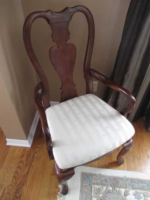 MAHOGANY DINING CHAIR Content sale from pleasant Kanata South home – 27 Brandy Creek Crescent, Ottawa ON. Sale will take place Saturday, May 9th 2015, from 9am to 2pm. Visit www.sellmystuffcanada.com to view photos of all available items!