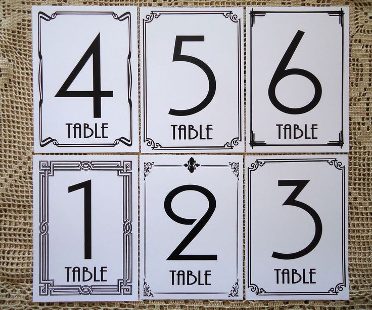 Kraft+White+Table+Numbers+1+to+15+Wedding+Birthday+Party+Table+Gatsby+Style