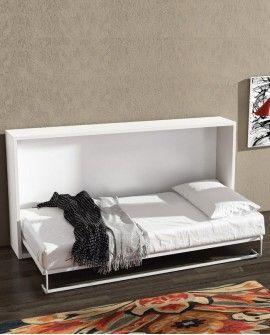 Armoire lit escamotable horizontale couchage 1 personne - ELEMENT
